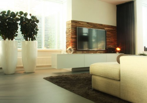 Zwevend TV-meubel Hoogglans